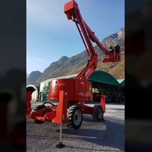 Articulating boom lift 16m with stabilizer