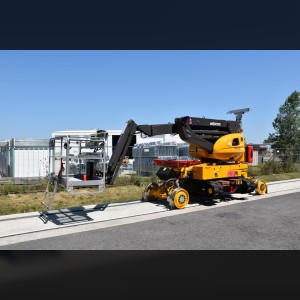 Crawler articulating boom lift 16m / railway-road